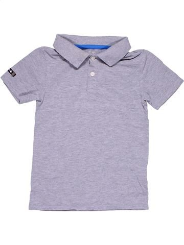 Short sleeve polo shirt boy OXYLANE gray 6 years summer #11094_1
