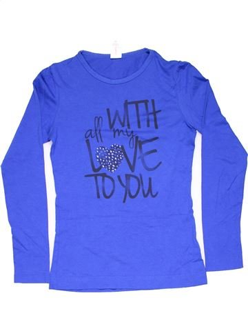 Long sleeve T-shirt girl C&A blue 12 years summer #11695_1