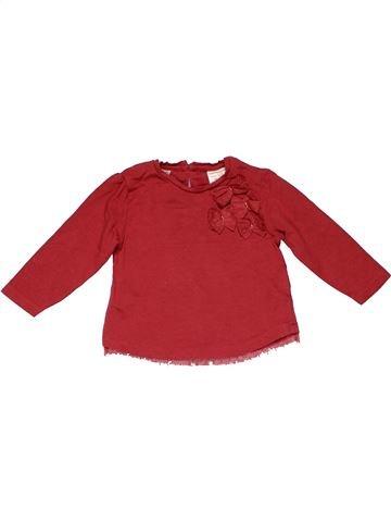 Long sleeve T-shirt girl ZARA red 9 months winter #12262_1