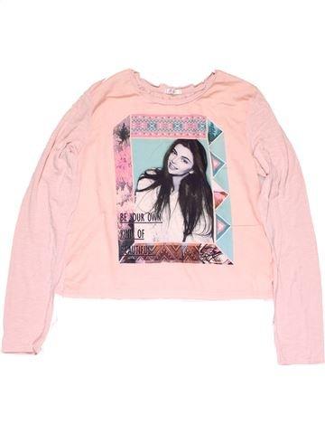 Long sleeve T-shirt girl PEP&CO pink 14 years summer #14344_1