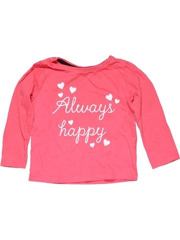 Long sleeve T-shirt girl YOUNG DIMENSION pink 2 years winter #14366_1