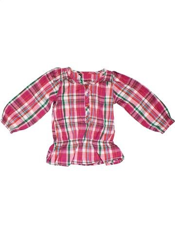 Long sleeve blouse girl GEORGE pink 18 months winter #14642_1