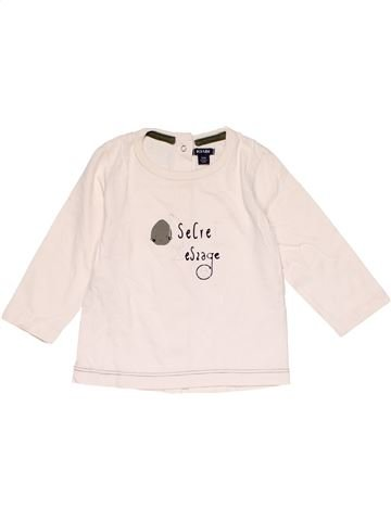 Long sleeve T-shirt boy KIABI white 12 months winter #15004_1