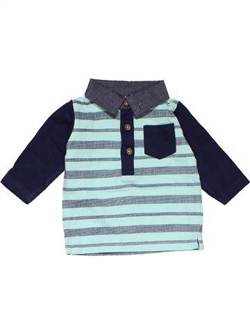 Long sleeve polo shirt boy NEWBORN gray 1 month winter #15028_1
