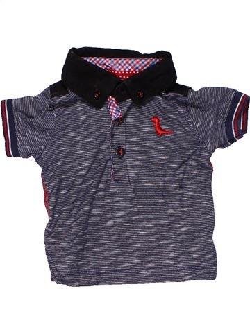 Short sleeve polo shirt boy BABY gray 6 months summer #15424_1
