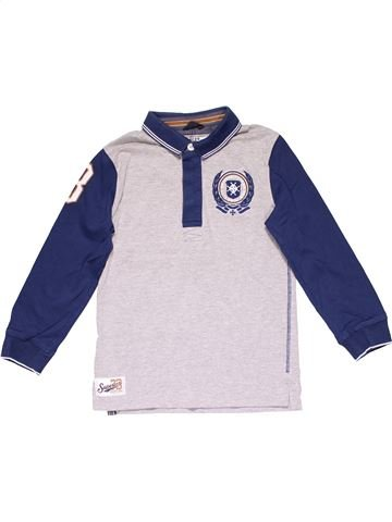 Long sleeve polo shirt boy AUTHENTIC white 9 years winter #15478_1