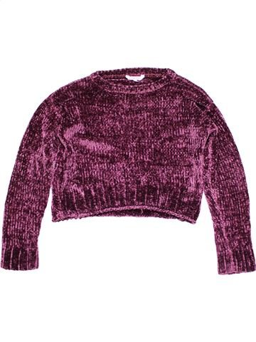 Jumper girl MISS E-VIE purple 10 years winter #15564_1