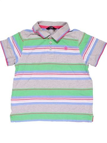Short sleeve polo shirt boy GEORGE gray 8 years summer #17096_1