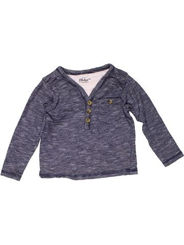 Long sleeve polo shirt boy REBEL blue 12 months winter #18346_1