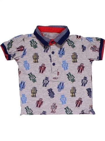 Short sleeve polo shirt boy NO BRAND gray 9 months summer #18925_1