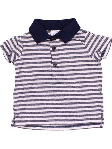 Short sleeve polo shirt boy F&F white 6 months summer #19493_1