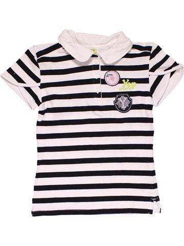 Short sleeve polo shirt girl YEP white 10 years summer #19990_1