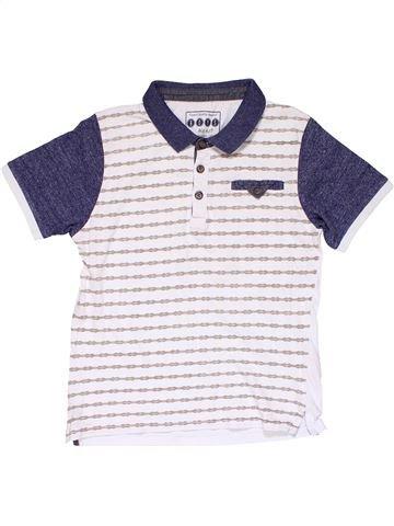 Short sleeve polo shirt boy MATALAN blue 7 years summer #20063_1