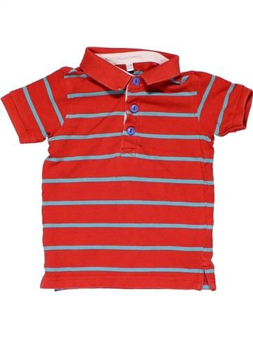Short sleeve polo shirt boy MARKS & SPENCER red 18 months summer #20849_1
