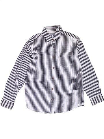 Long sleeve shirt boy MARKS & SPENCER white 12 years winter #20860_1