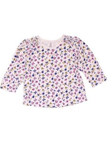 Long sleeve T-shirt girl MATALAN white 9 months winter #21023_1