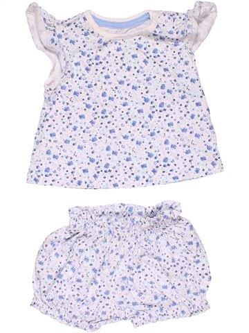 2 pieces Pyjama girl MOTHERCARE white new born summer #21772_1