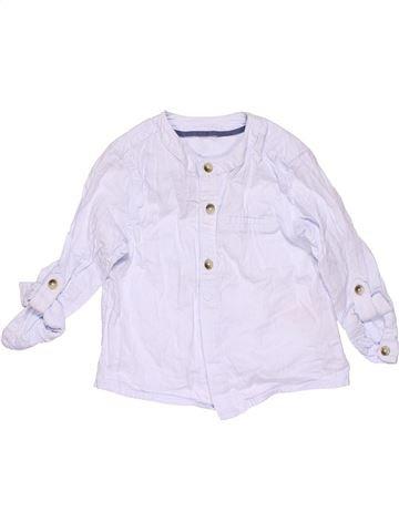 Long sleeve T-shirt boy M&S white 12 months summer #22068_1