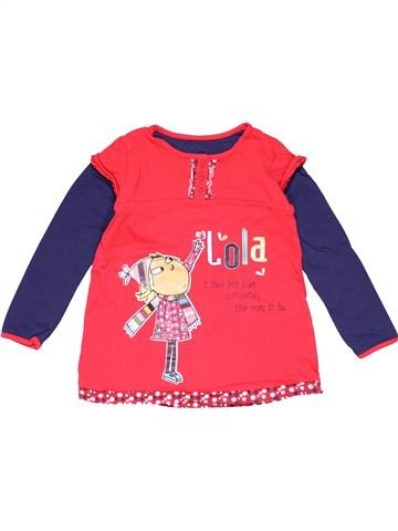 Long sleeve polo shirt girl MARKS & SPENCER red 5 years winter #22620_1