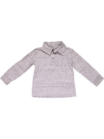 Long sleeve polo shirt boy H&M white 2 years winter #23658_1