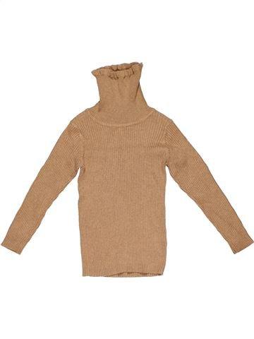 Turtleneck T-shirt girl NEXT brown 4 years winter #26299_1