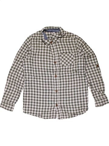 Long sleeve shirt boy M&S gray 9 years winter #26390_1