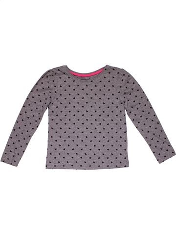 Long sleeve T-shirt girl YOUNG DIMENSION gray 6 years winter #26439_1