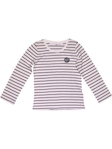 Long sleeve blouse girl M&S white 7 years winter #26505_1