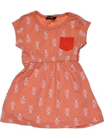 Dress girl GEORGE orange 18 months summer #27156_1