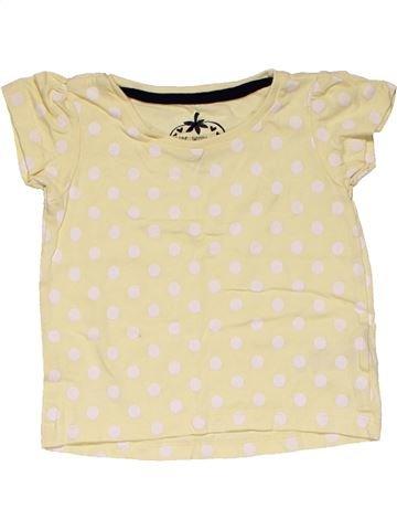 Short sleeve T-shirt girl YOUNG DIMENSION beige 12 months summer #27244_1