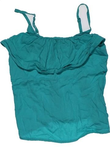 Short sleeve blouse girl M&S green 7 years summer #27398_1