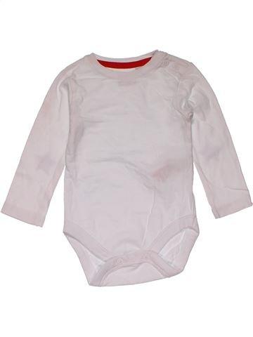 Short jumpsuit boy BLUEZOO white 6 months summer #27445_1