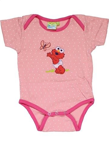 Short jumpsuit girl SESAME STREET pink 2 years summer #27765_1