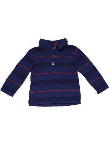 Long sleeve polo shirt boy F&F blue 6 months winter #27777_1