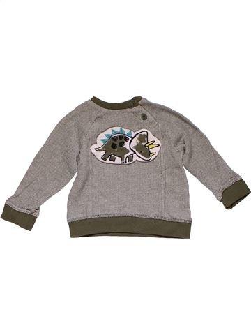 Sweatshirt boy NUTMEG gray 6 months winter #27783_1
