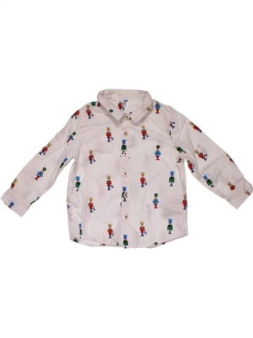Long sleeve shirt boy MARKS & SPENCER white 12 months summer #28004_1