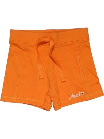 Short pants girl NEXT orange 12 months summer #28112_1