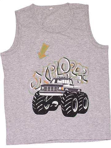 Sleeveless T-shirt boy NO BRAND gray 10 years summer #28156_1
