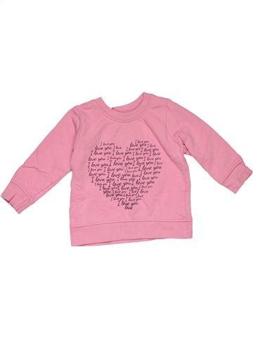 Long sleeve T-shirt girl PRIMARK pink 12 months winter #28176_1