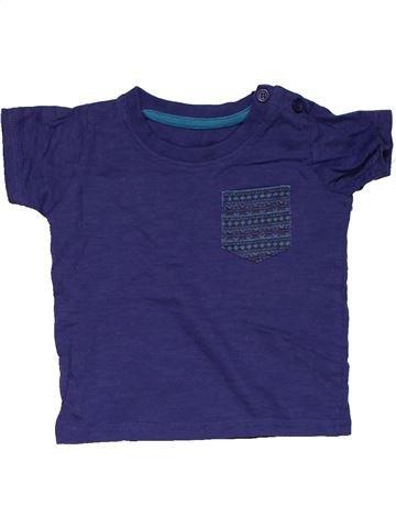 Short sleeve T-shirt boy MATALAN purple 6 months summer #28209_1