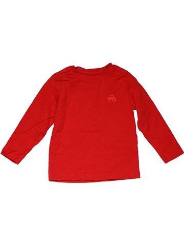 Long sleeve T-shirt girl NUTMEG red 3 years winter #28375_1