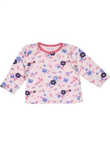 Long sleeve T-shirt girl BABY pink 12 months summer #28709_1