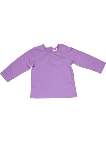 Long sleeve T-shirt girl H&M purple 9 months winter #28779_1