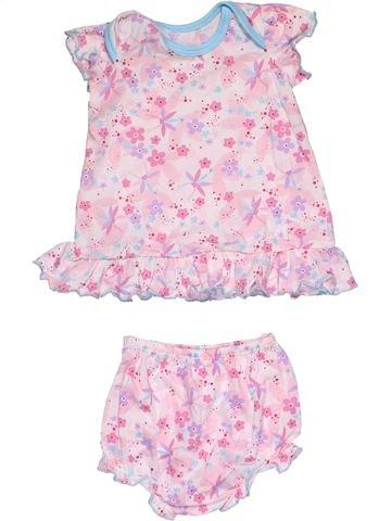 2 pieces Pyjama girl WOOLWORTHS pink 3 months summer #29013_1