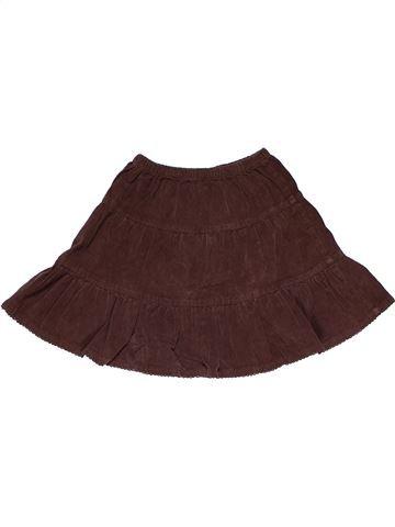 Skirt girl TOPOLINO brown 4 years summer #29273_1