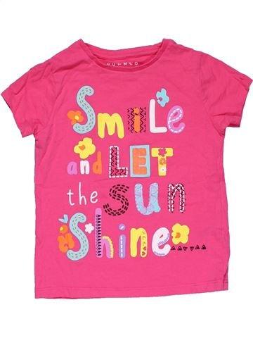 Short sleeve T-shirt girl NUTMEG pink 5 years summer #29744_1
