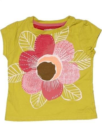 Short sleeve T-shirt girl NEXT yellow 9 months summer #29766_1
