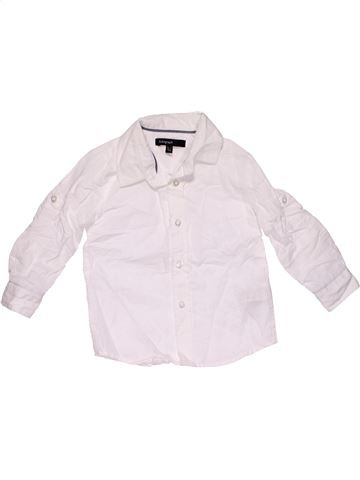 Long sleeve blouse boy MARKS & SPENCER white 2 years summer #29887_1