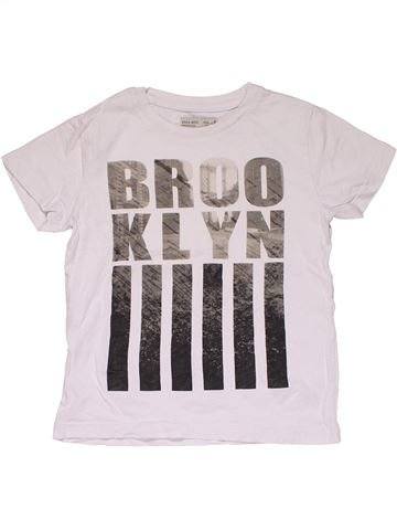 Short sleeve T-shirt boy ZARA white 6 years summer #29899_1