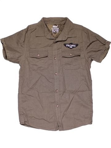 Short sleeve shirt boy PRIMARK brown 12 years summer #29958_1